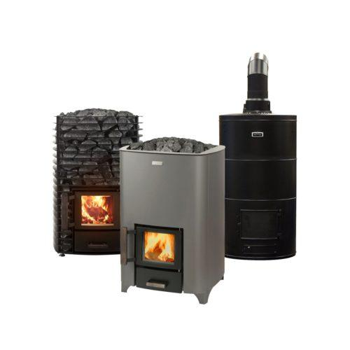 Wood-burning sauna stoves